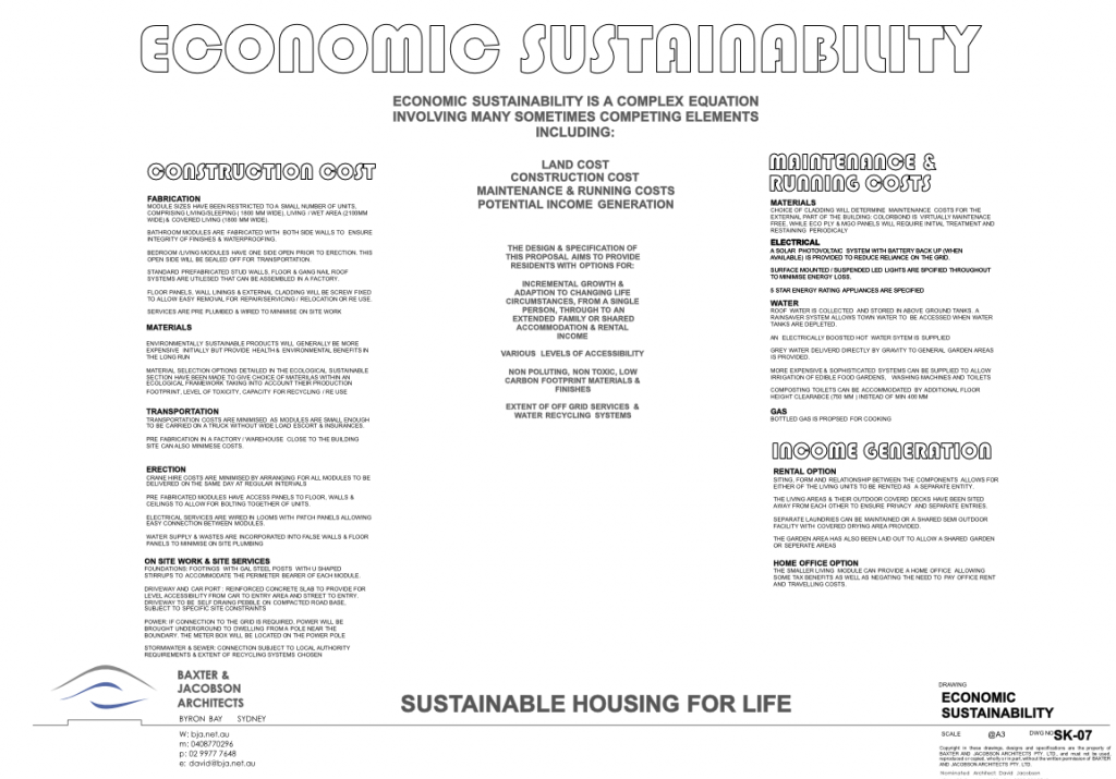 SK-07 ECONOMIC SUSTAINABILITY